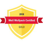 Graphic emblem for 2018 Gold Well Wolfpack Certified Organizations