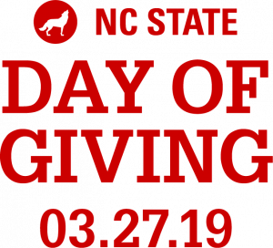 Graphic reading NC State Day of Giving March 27 2019