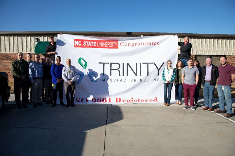 Trinity Manufacturing Receives ISO 9001 Certification