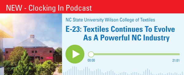 E-23: Textiles Continues To Evolve As A Powerful NC Industry Banner